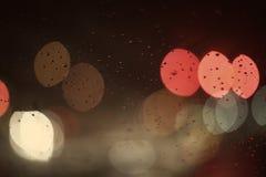 Luci colorate su una notte piovosa Immagine Stock Libera da Diritti