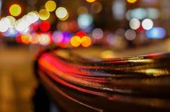 Luci confuse dalla città di Chicago, U.S.A. Fotografie Stock Libere da Diritti