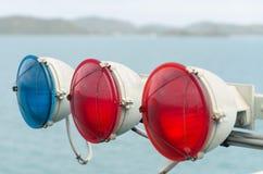 3 luci d'avvertimento Fotografie Stock Libere da Diritti