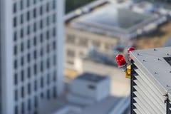 Luci d'avvertimento del grattacielo Fotografia Stock Libera da Diritti