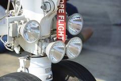 Luci degli aerei e carrello di atterraggio anteriori Fotografia Stock Libera da Diritti