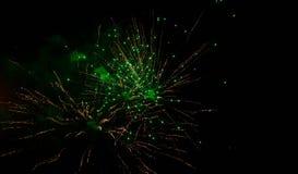 Luci dei fuochi d'artificio fotografia stock