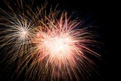 Luci dei fuochi d'artificio Fotografie Stock