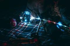 Luci del baloon del partito fotografia stock libera da diritti