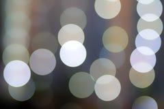 luci del bokeh con il fondo della luce morbida immagine stock