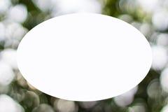 Luci del bokeh della natura della forma della cornice Fotografia Stock