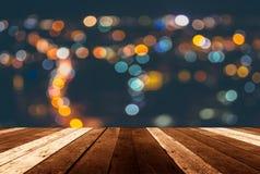luci del bokeh della sfuocatura da alta costruzione Fotografia Stock