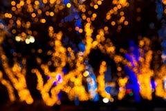 Luci del bokeh di Natale Immagini Stock Libere da Diritti