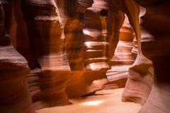 Luci del canyon della scanalatura Fotografie Stock Libere da Diritti