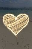 Luci del cuore Fotografia Stock