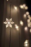 Luci del fiocco di neve Fotografia Stock