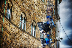 Luci del punto di film in Palazzo Vecchio Immagine Stock