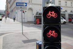 Luci del traffico ciclistico Fotografia Stock Libera da Diritti