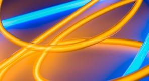Luci del tubo al neon, accendenti i neon di forma del cerchio royalty illustrazione gratis