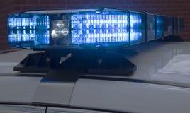 Luci del volante della polizia su un'automobile contrassegnata Immagine Stock Libera da Diritti