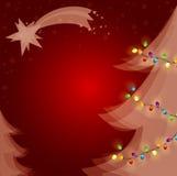 Luci dell'albero di Natale Fotografie Stock