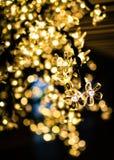 Luci dell'albero di Natale con bokeh fotografia stock
