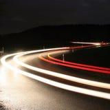 Luci dell'automobile Fotografia Stock