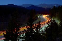 Luci dell'automobile esposte tempo Immagini Stock Libere da Diritti