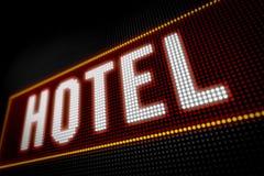 Luci dell'hotel Fotografia Stock