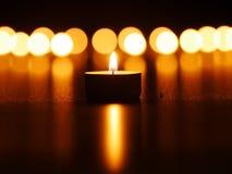 Luci della candela fotografia stock