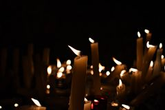 Luci della candela Immagini Stock Libere da Diritti