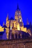 Luci della cattedrale di Bayeux Immagine Stock