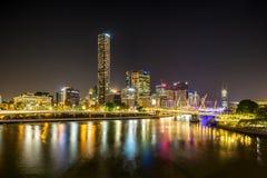 Luci della città di Brisbane Fotografia Stock Libera da Diritti