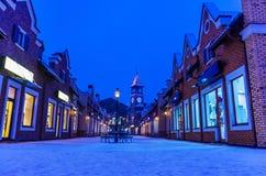 Luci della città di Natale Fotografia Stock