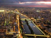 Luci della città: Parigi Fotografia Stock Libera da Diritti