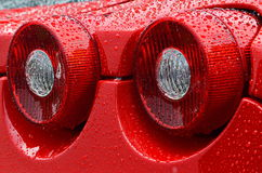 Luci della coda di uno Sportscar europeo Fotografia Stock Libera da Diritti
