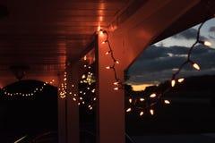 luci della corda Fotografie Stock Libere da Diritti