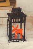 Luci della decorazione di Natale Fotografie Stock