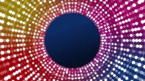 Luci della discoteca con i cerchi royalty illustrazione gratis