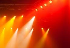 Luci della fase sul concerto Fotografie Stock