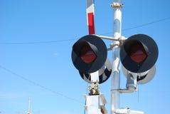 Luci della ferrovia Immagine Stock