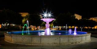 Luci della fontana nella Praia immagini stock libere da diritti