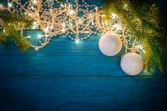 Luci della ghirlanda di Natale Immagine Stock Libera da Diritti