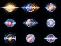 Luci della particella di Wave Fotografia Stock Libera da Diritti