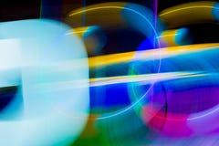 Luci della sfuocatura dell'onda dell'estratto di colore di meditazione dentro Fotografie Stock