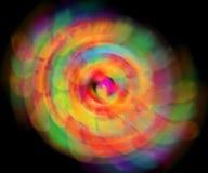 Luci della sfuocatura dell'onda dell'estratto di colore di meditazione dentro Fotografia Stock