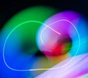 Luci della sfuocatura dell'onda dell'estratto di colore di meditazione dentro Fotografia Stock Libera da Diritti