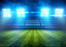 Luci dello stadio di football americano fotografie stock