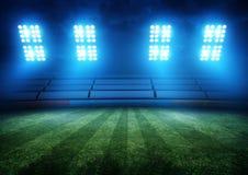 Luci dello stadio di football americano Fotografia Stock Libera da Diritti