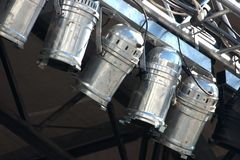 Luci di alluminio riflettenti usate della fase Immagine Stock