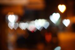Luci di cuore Fotografie Stock Libere da Diritti