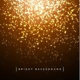 Luci di festa del fondo di Natale Effetti della luce Stella delle ghirlande royalty illustrazione gratis