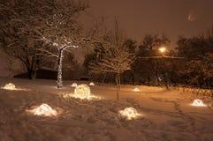 Luci di inverno Fotografia Stock