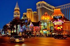 Luci di Las Vegas Fotografia Stock