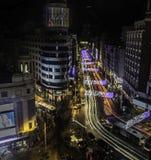 Luci di Madrid Fotografia Stock